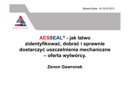 Zenon Gawronek Aesseal Sp. z o.o.