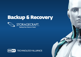 StorageCraft w ESET Technology Alliance