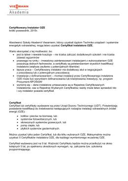 Przewodnik – Certyfikowany Instalator OZE, plik PDF