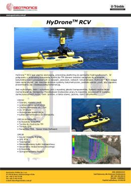 HyDrone™ RCV - Specyfikacja Techniczna