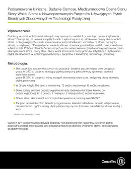Podsumowanie kliniczne: Badanie Osmose