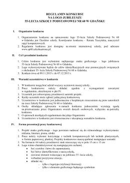 Regulaminie konkursu - Szkoła Podstawowa Nr 60 w Gdańsku