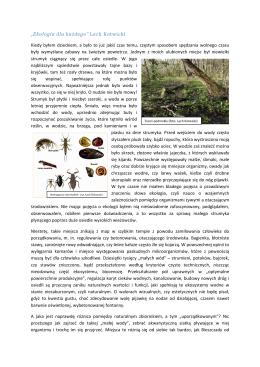 """""""Ekologia dla każdego"""" Lech Kotwicki"""