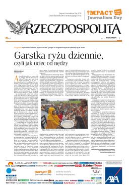 Garstka ryżu dziennie, - Impact Journalism Day