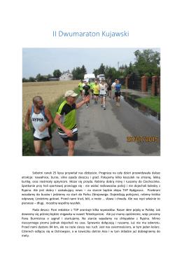 Relacja z II Dwumaratonu Kujawskiego