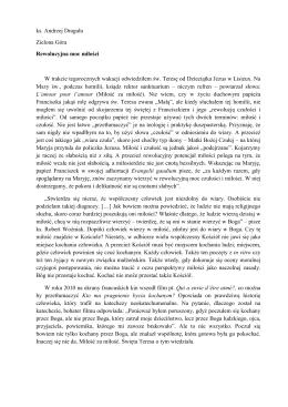 ks. Andrzej Draguła Zielona Góra Rewolucyjna moc miłości W