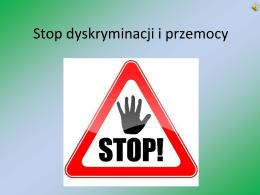 Stop dyskryminacji i przemocy