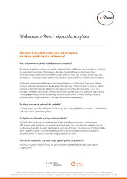 """Webinarium """"e-Mocni"""" odpowiedzi na pytania"""