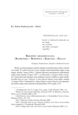 Rękopisy niedożegnania (Kamieńska – Różewicz – Korczak