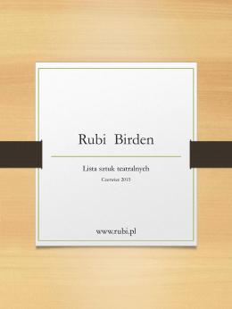 Rubi Birden - Birden, Rubi