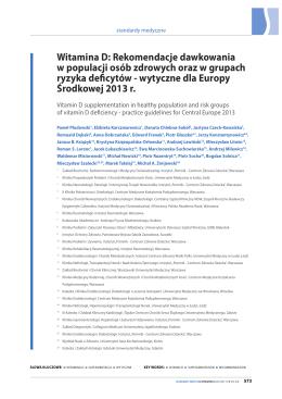 Rekomendacje dawkowania w populacji osób zdrowych oraz w