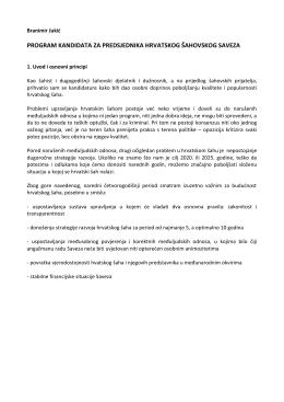 Program - Hrvatski šahovski savez