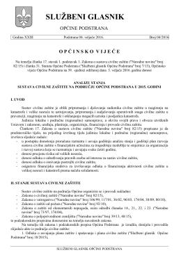 glasnik 04-2016 - Općina Podstrana