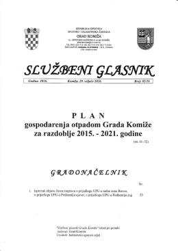 Službeni glasnik Grada Komiže br. 02-2016
