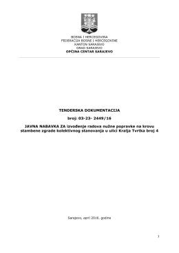 TENDERSKA DOKUMENTACIJA broj: 03-23- 2449