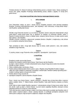 prijedlogu Poslovnika skupštine Hrvatskoga radioamaterskog savez