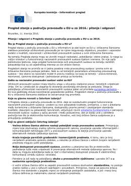 Pregled stanja u području pravosuđa u EU-u za 2016.