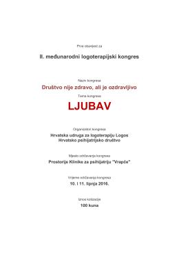 Kongres 2016 - Logoterapija Hrvatska