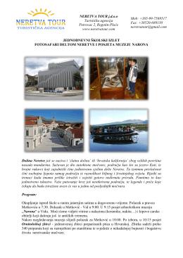 Fotosafari deltom Neretve i posjeta muzeju Narona