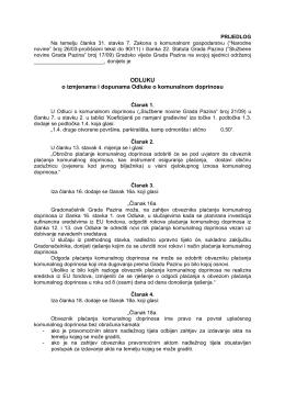 Odluka o izmjenama i dopunama Odluke o komunalnom doprinosu