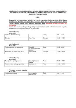 Akcija skupljanja ambalaže od sredstava za zaštitu bilja 13.04.2016