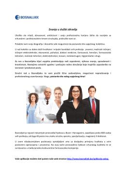 Znanje u službi zdravlja