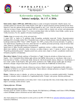 Vinište - HPD Kapela