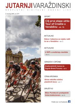 Cilj prve etape utrke Tour of Croatia u Varaždinu - str. 10.