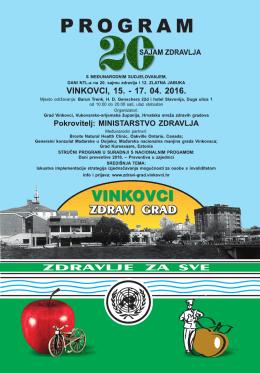 20. sajmu zdravlja - Vinkovci zdravi grad