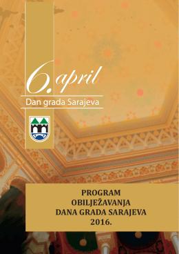 program obilježavanja dana grada sarajeva 2016.