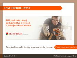 PBZ - NOVO u ponudi u 2016