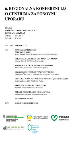 PROGRAM OSIJEK PDF 230.96 kB - Fond za zaštitu okoliša i