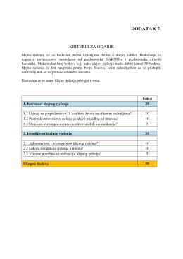 Kriteriji za odabir