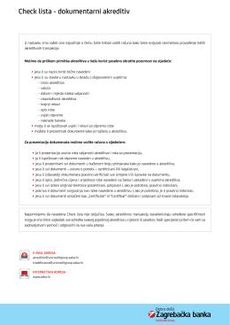 Check lista - dokumentarni akreditiv pdf 0.27MB