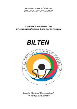 bilten - Hrvatski streljački savez