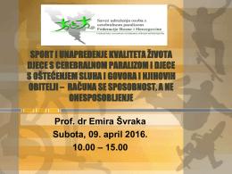 sport i unapređenje kvaliteta života djece s cerebralnom paralizom i