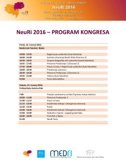 NeuRi 2016 – PROGRAM KONGRESA