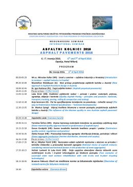 Program seminara ASFALTNI KOLNICI 2016.