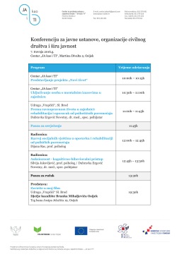 Konferencija – raspored