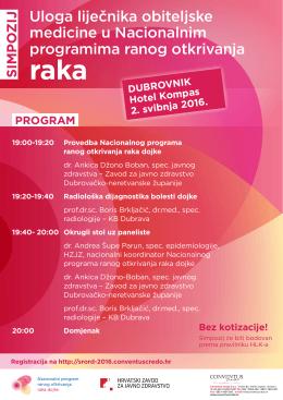 Dubrovnik - Uloga liječnika obiteljske medicine u Nacionalnim