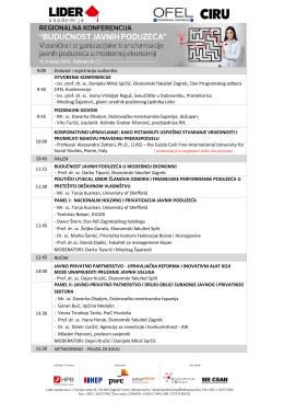 Informacije o sudionicima i protokolu