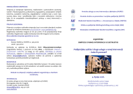 Program simpozija - Hrvatsko društvo za preventivnu i socijalnu
