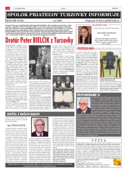aprílové číslo (číslo 4) - Spolok priateľov Turzovky