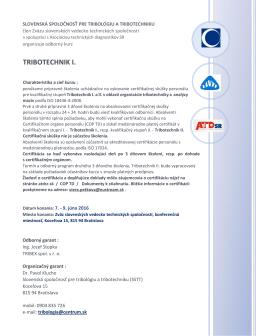 tribotechnik i. - Intertribo.sk