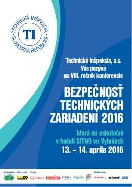 bezpečnosť technických zariadení 2016