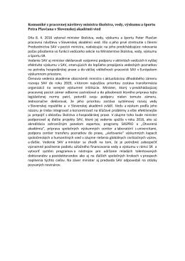 Komuniké z pracovnej návštevy ministra školstva, vedy, výskumu a