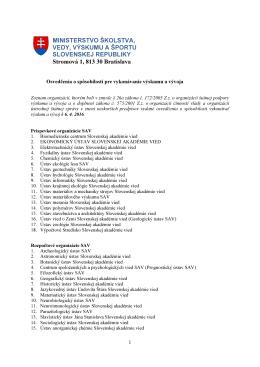 Zoznam organizácií