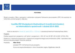 Využitie EŠIF (Európskych štrukturálnych