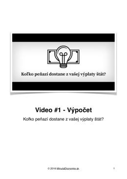 Video #1 - Výpočet