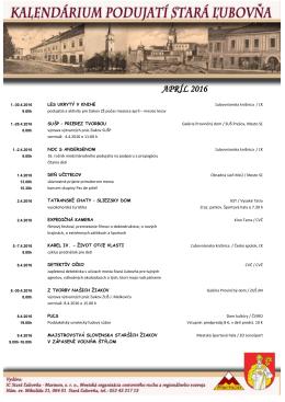 Podujatia- Apríl2016 - Mesto Stará Ľubovňa